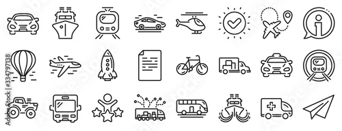 Fotografie, Obraz Taxi, Helicopter and subway train icons