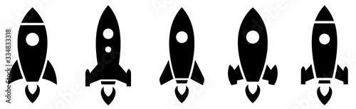 Fotografia Rocket simple icon set vector