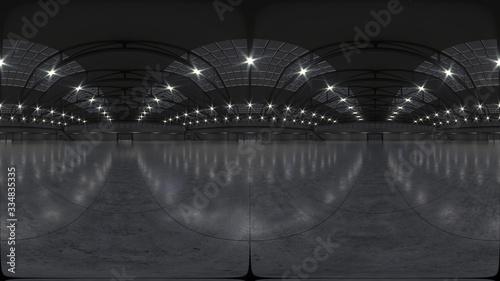 Fotografia Full spherical hdri panorama 360 degrees of empty exhibition space