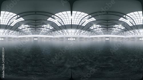 Cuadros en Lienzo Full spherical hdri panorama 360 degrees of empty exhibition space