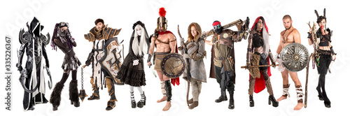 Fényképezés Group of people in costumes