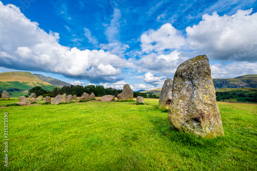 Платно The ancient Castlerigg stone circle at the Lake District in England