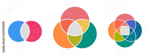 Photo Venn diagram infographic template