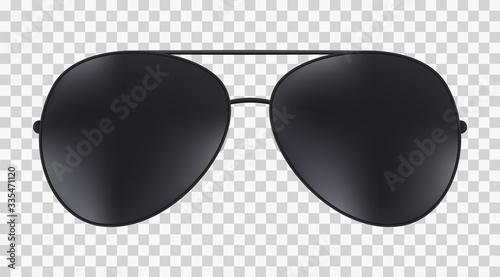 Canvastavla Aviator police isolated sunglasses .