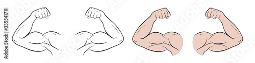 Valokuva Biceps of a sports person vector fit