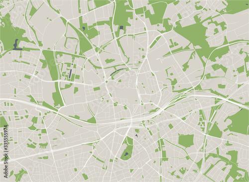 Obraz na plátně map of the city of Essen, Germany
