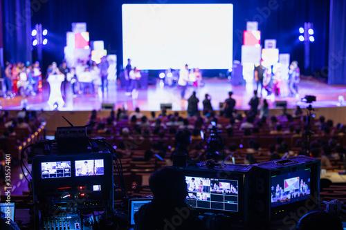 Obraz na plátne Sound and video backstage team working.