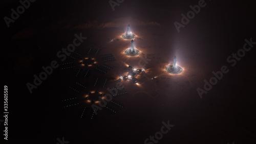 Fotografia, Obraz A depiction of a base on a hostile and barren planet