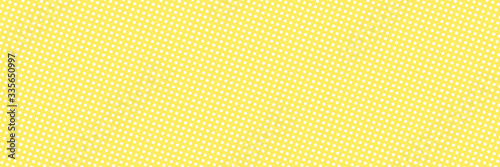 Vector comic book background with polka dot pattern in retro pop art style. Long horizontal banner