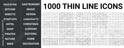 Fotografia Big set of 1000 thin line icon