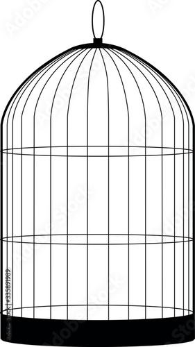 Tablou Canvas birdcage isolated on white