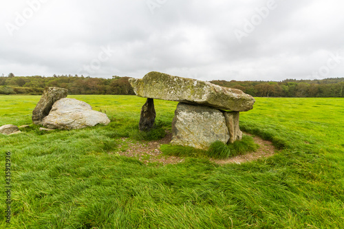 Obraz na plátně Presaddfed Burial Chamber in Anglesey, North Wales