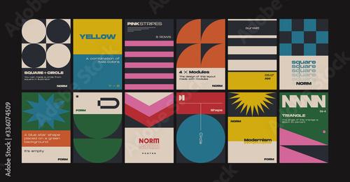 Fotografie, Obraz New Modernism Vector Poster Template Design