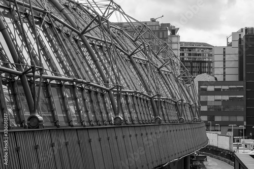 Obraz na płótnie View of new roof extension at Waterloo station