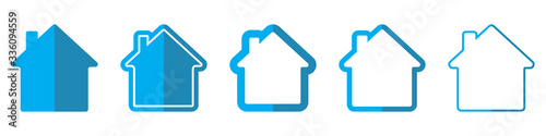 House vector icons. Vector illustration.