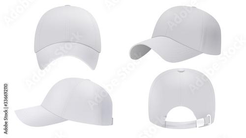 Fotografie, Obraz White cap Mockup, realistic style