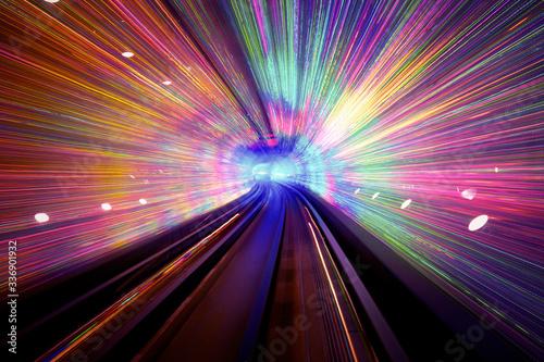 Light tunnel background