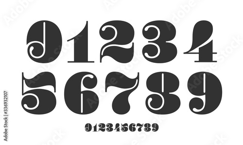 Fotografia Number font