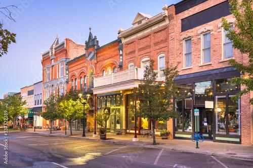 Provo, Utah, USA downtown on Center Street Fototapeta