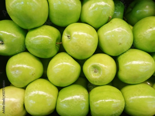Full Frame Shot Of Granny Smith Apples Fototapete