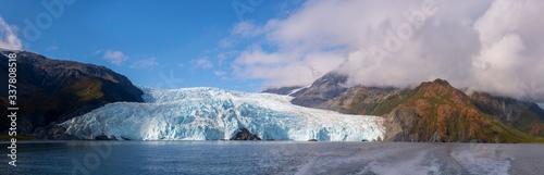 Fotografie, Obraz Aialik Glacier panorama on Aialik Bay in Kenai Fjords National Park in Sep
