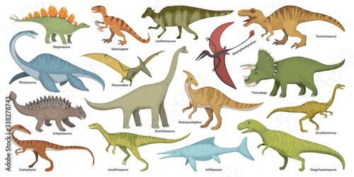 Dinosaur isolated cartoon set icon Fototapete