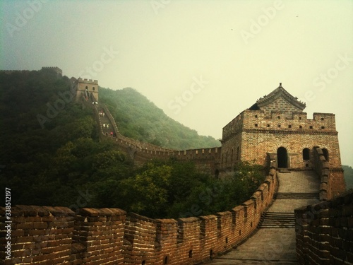 Fotografie, Tablou Great Wall Of China Against Clear Sky