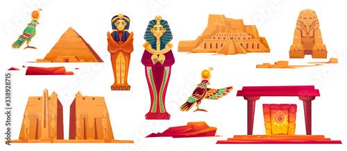 Canvas Print Ancient Egypt landmarks