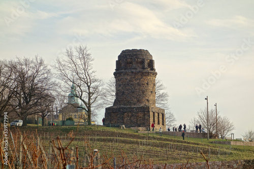 Canvas Print Low Angle View Of Bismarck Tower Against Sky