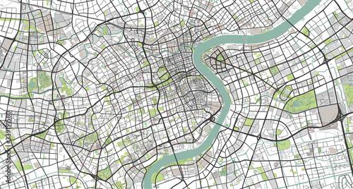 Obraz na plátně Detailed map of Shanghai, China