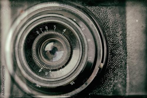 Vintage rangefinder camera effect collodion wet plate process Fotobehang