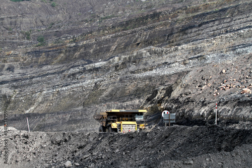 Fototapeta Dump Truck At Coal Mine