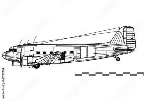 Fotografie, Obraz Douglas C-47 Skytrain, Dakota, DC-3