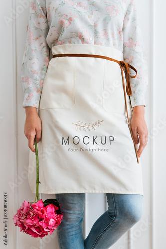 Wallpaper Mural Florist apron mockup