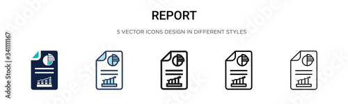 Tablou Canvas Report icon in filled, thin line, outline and stroke style