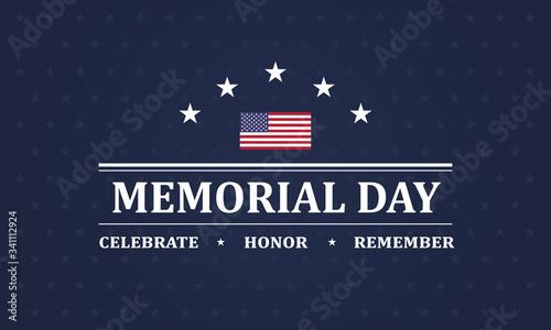 Obraz na plátně Memorial Day background vector illustration