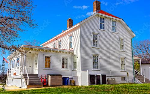 Valokuvatapetti Sandy Hook Light house museum reflex