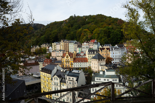 Obraz na plátně View of Karlovy Vary cityscape