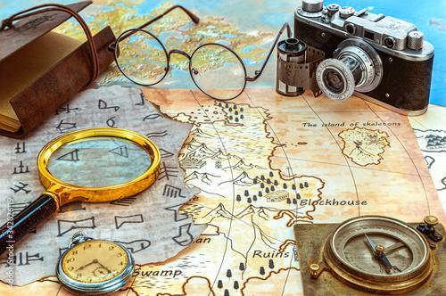 Valokuvatapetti Archaeology and treasure hunting