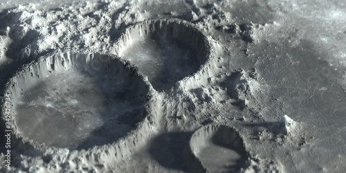 Valokuvatapetti Moon Crater Closeup Martian Outer Space