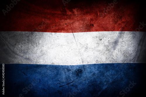 Wallpaper Mural Grunge Netherlands flag
