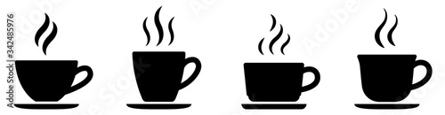 Photo Coffee cup icon set