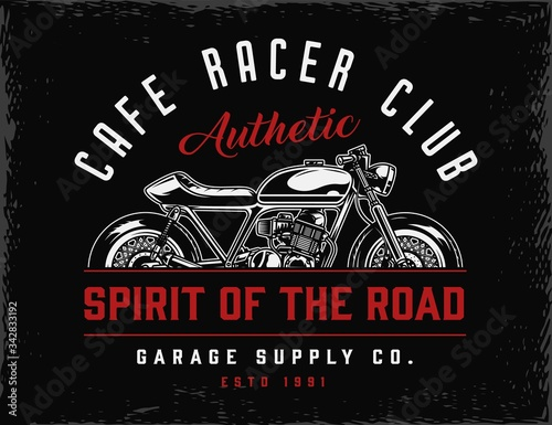 Valokuva Cafe racer club vintage badge