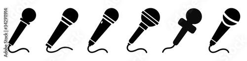 Fotografia Set microphone icon sign – stock vector