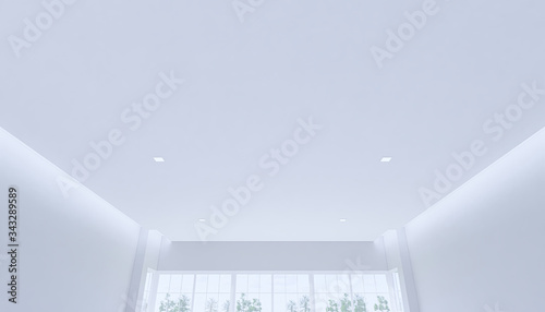 Photo 3d ceiling in empty white room
