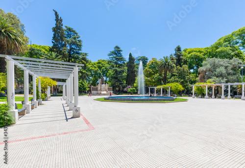 Fotografia Argentina Mendoza Italy colonnades and fountain