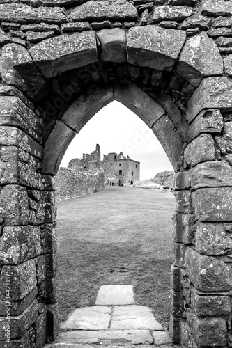 archway at Dunnottar Castle in Stonehaven, Scotland Poster Mural XXL
