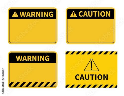 Fototapeta Warning sign