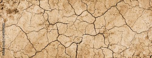 Fotografia Dry mud background texture banner