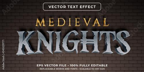 Fotografia Editable text effect - medieval style